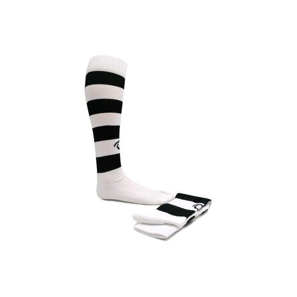calzettone a righe bianco/nero