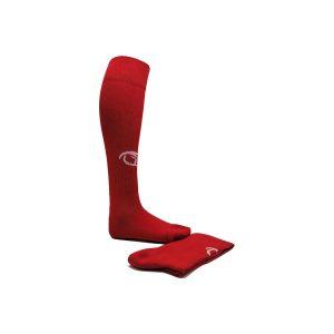 calzettone in tinta unita rosso
