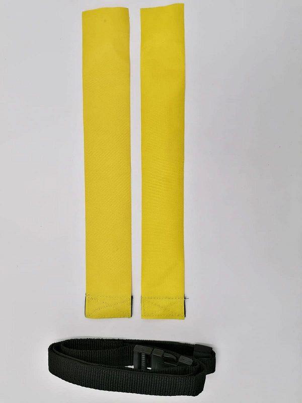 cintura per il rugby gialla
