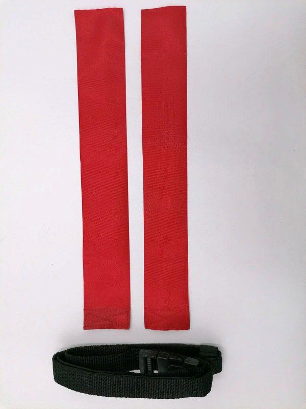 cintura per il rugby rossa